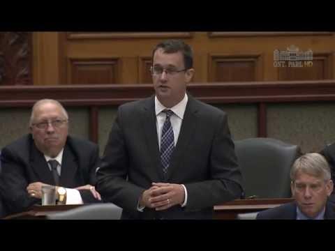 MPP McNaughton Questions Minister Orazietti Regarding Forest OPP Closing on September 26, 2016