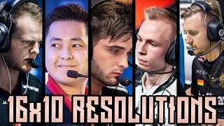 CS:GO Pro Players Who Play 16:10! (16:10 In Game Resolutions)