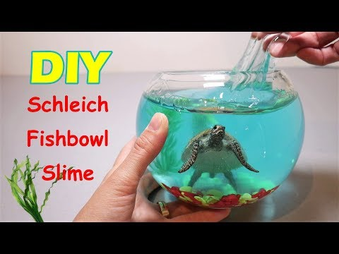 Schleich Fish Bowl Slime DIY | How to Make Fishbowl Slime