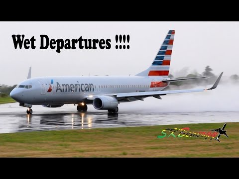 Wet Departures !!!! 737,757,767 @ St Kitts R.L.B Int'l Airport