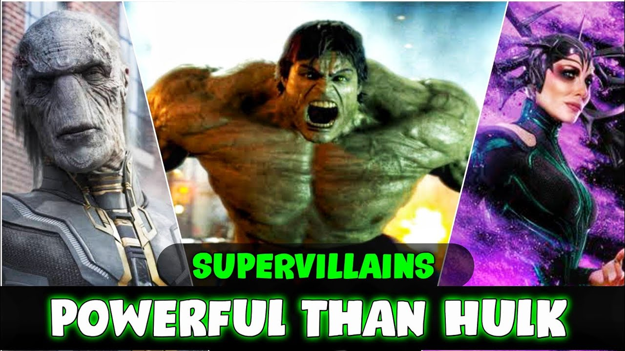 Supervillains Who are Powerful and Stronger than Hulk in Hindi (SUPERBATTLE)