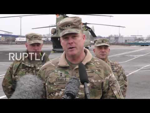 Germany: US military helicopters arrive in Bremerhaven for NATO deployment