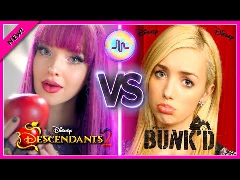 Disney Descendants 2 VS Bunkd Musical.ly Battle  Disney Stars Dove Cameron VS Peyton List Musically
