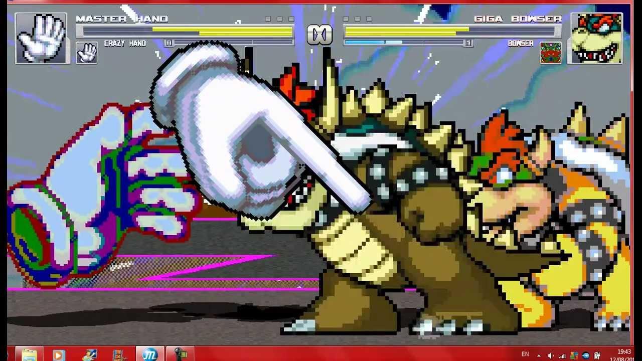 Mugen Master Hand And Crazy Hand Vs Bowser And Giga Bowser