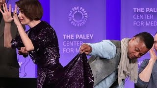 Cuba Gooding Jr. Lifts Sarah Paulson's Skirt On Stage(VIDEO)
