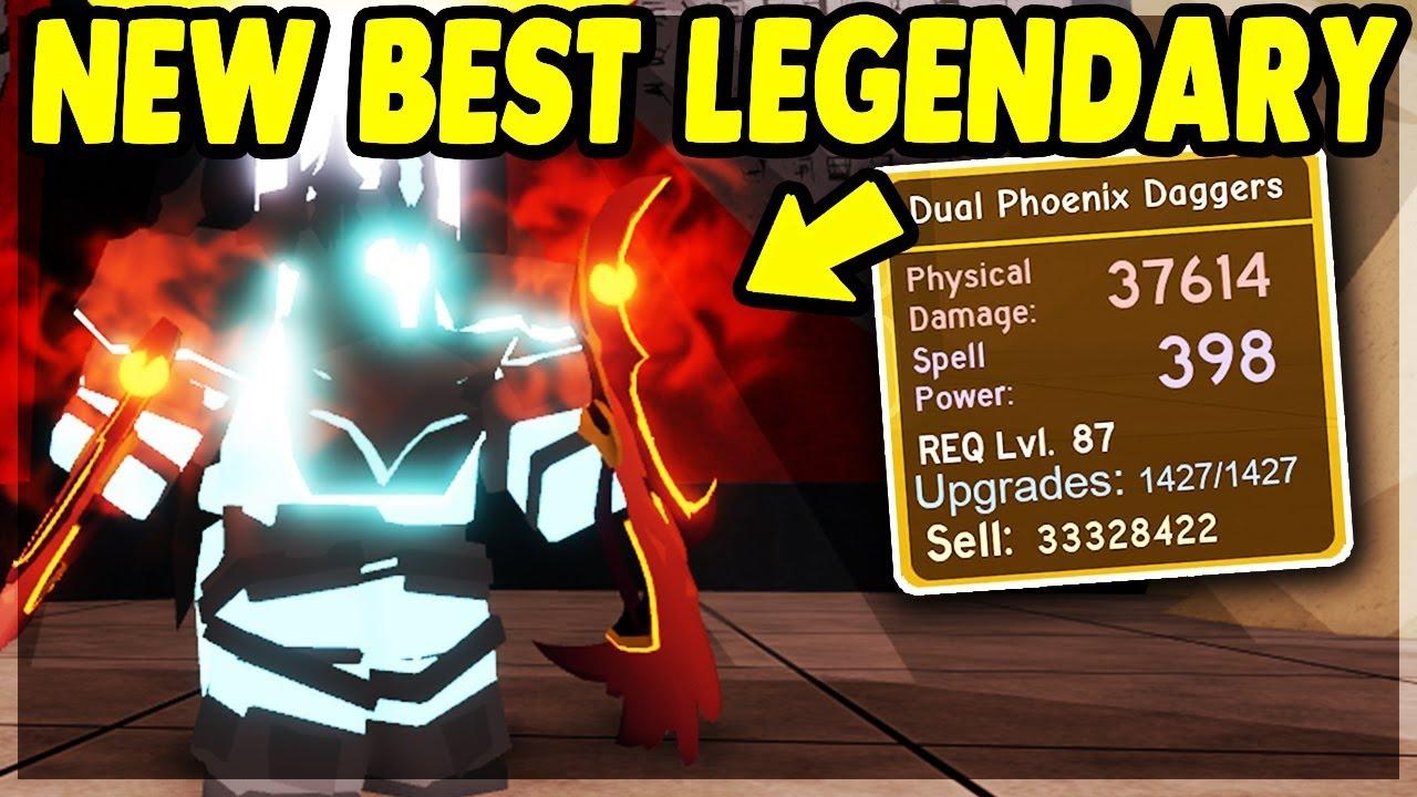 *NEW* BEST LEGENDARY (Dual Phoenix Daggers) The Underworld UPDATE | Roblox:  Dungeon Quest
