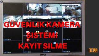 Güvenlik Kamera Sistemi Kayıt Silme İşlemi | Kamera Kaydı Silme | Kayıt Cihazı Hard Disk Formatlama