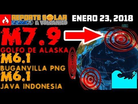 ALASKA M7.9 PAPUA M6.1, JAVA M6.1   3 TERREMOTOS EN 3 HORAS HOY 23 DE ENERO 2018