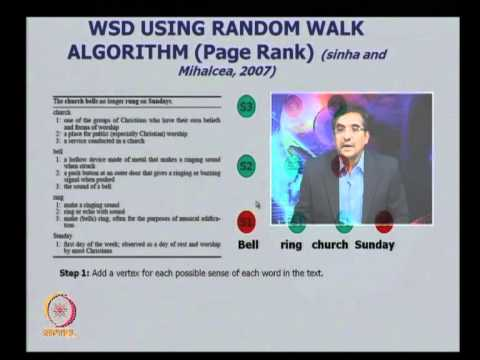 Mod-01 Lec-33 Word Sense Disambiguation; Overlap Based Method; Supervised Method