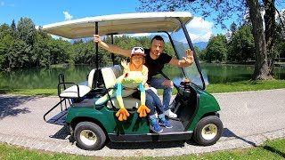 Drive Thru Adventure with Golf Cart | Picnic Time & Power Wheels Ride On Cars