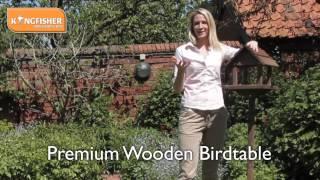 Kingfisher Premium Wooden Birdtable