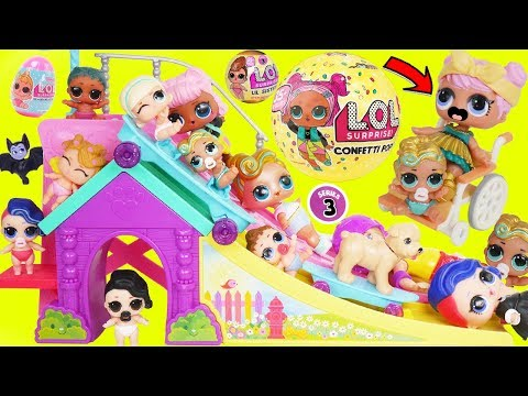 LOL Surprise! Dolls Lil Luxe Dress Barbie Skateboard, Big Sisters Confetti Pop Spin Series 3 Unboxed