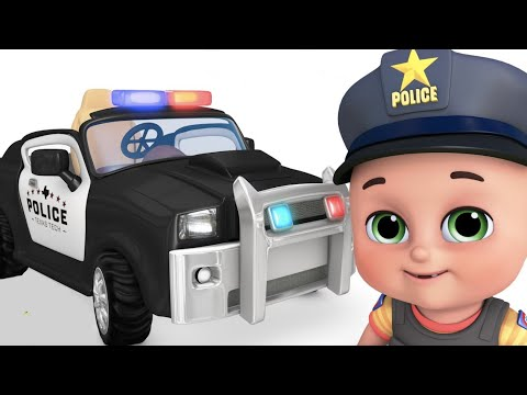 Toys for kids - Police chase  with police car,  Truck -  Surprise Eggs  by jugnu kids