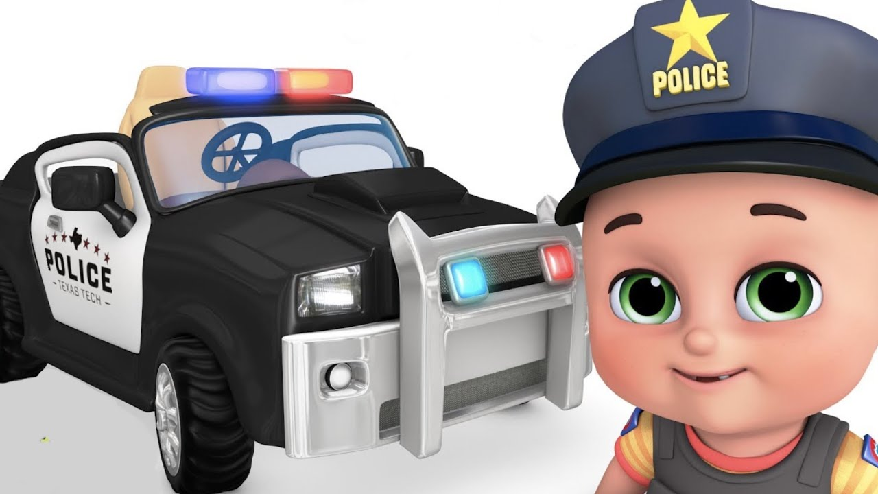POLICE CAR, Toys for kids - Police chase with police car, Truck -  Surprise Eggs  by jugnu kids