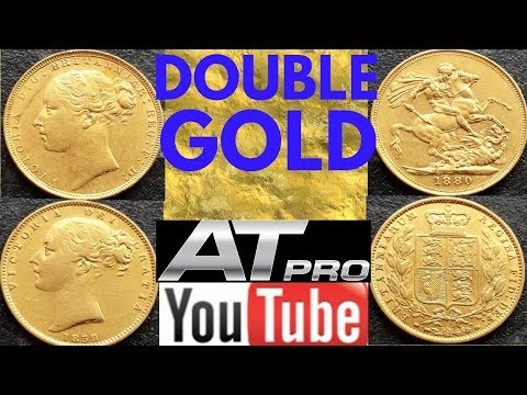 GOLD GOLD GOLD!!!! DOUBLE GOLD SOVEREIGNS(METAL DETECTING UK)metal detecting finds
