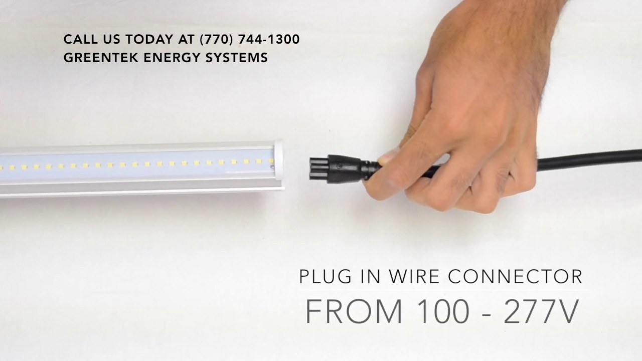 how to connect 4ft led integrated tubes greentek energy systems [ 1280 x 720 Pixel ]