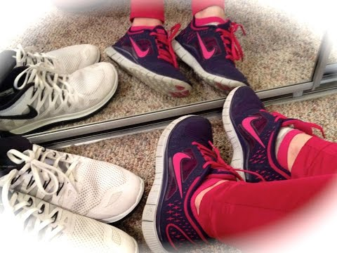 Мужские и женские кроссовки от  Nike   (Примерка в конце видео)