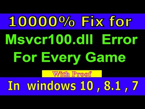How Fix MSVCR100.dll Missing Error Windows 10/8.1/7  Modified Rules