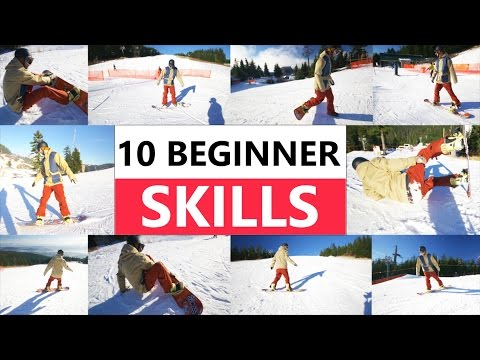 10 Beginner Snowboard Skills – First Day Riding