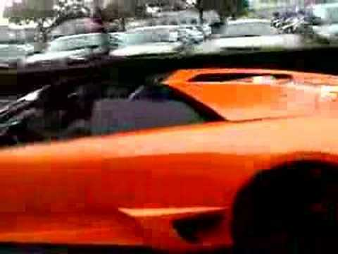 Texans mario williams in his $500,000 Lamborghini murcielago