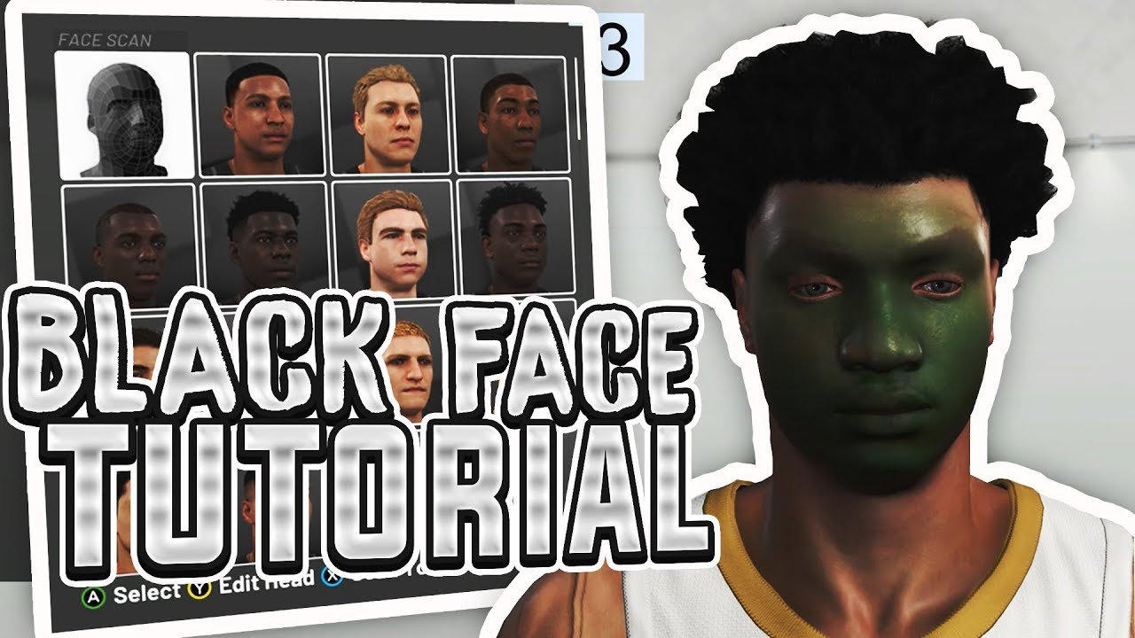 NBA 2K19 HOW TO GET THE BLACK OR GREEN FACE SCAN GLITCH !