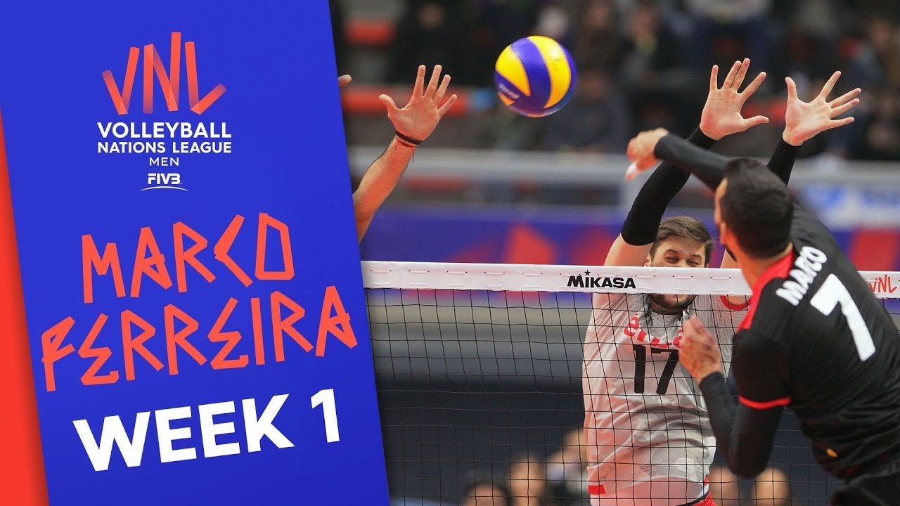 Unstopable Marco Ferreira with 21 Points against Bulgaria | Volleyball Nations League 2019