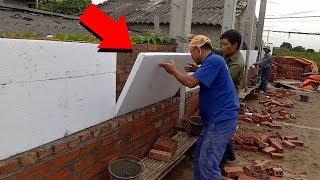 दीवार के बीच मैं थर्माकॉल लगाने की वजह जानकार आप भी हैरान रह जाएंगे || Amazing Construction Machines