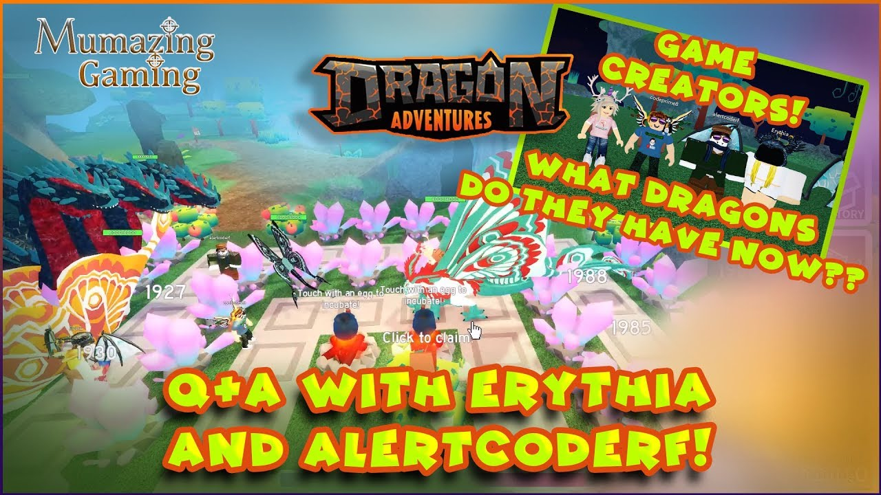 Roblox Dragon Adventures With The Game Creators Codeprime8 By