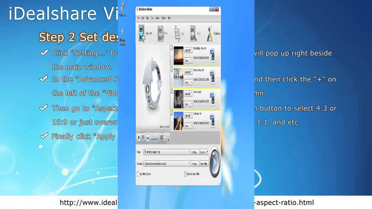 Convert Video Aspect Ratio to 4:3, 16:9, 2 35:1, 1 85:1, 1:1, 21:9 etc