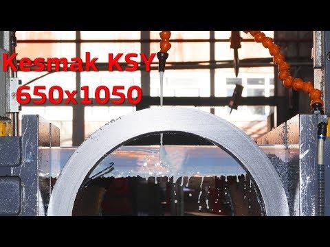 Резка металла на ленточнопильном станке Kesmak KSY 650x1050