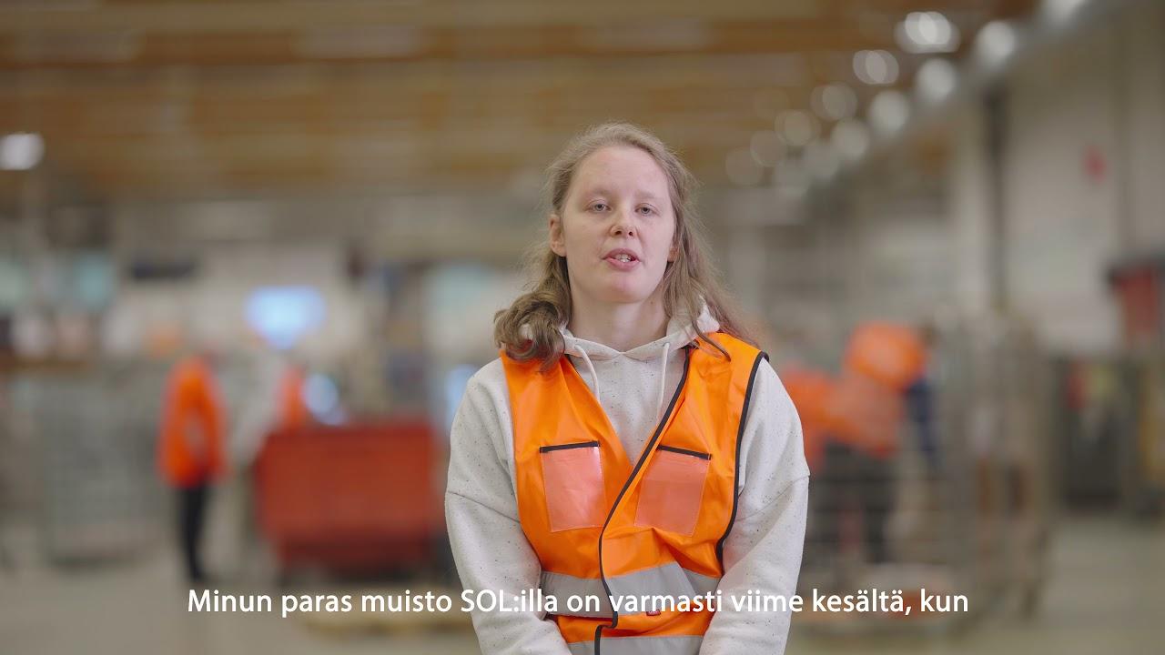 SOL Logistiikkapalveluiden kautta töitä jakeluksekuksessa