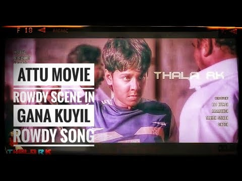 Attu Movie Gana Rowdy Kuyil Song Version / Full Fight Scenes Song / 4K Cinemas