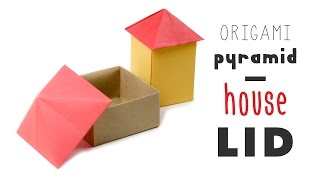 Origami House Box - Pyramid Lid Tutorial  ♥︎ DIY ♥︎ Paper Kawaii