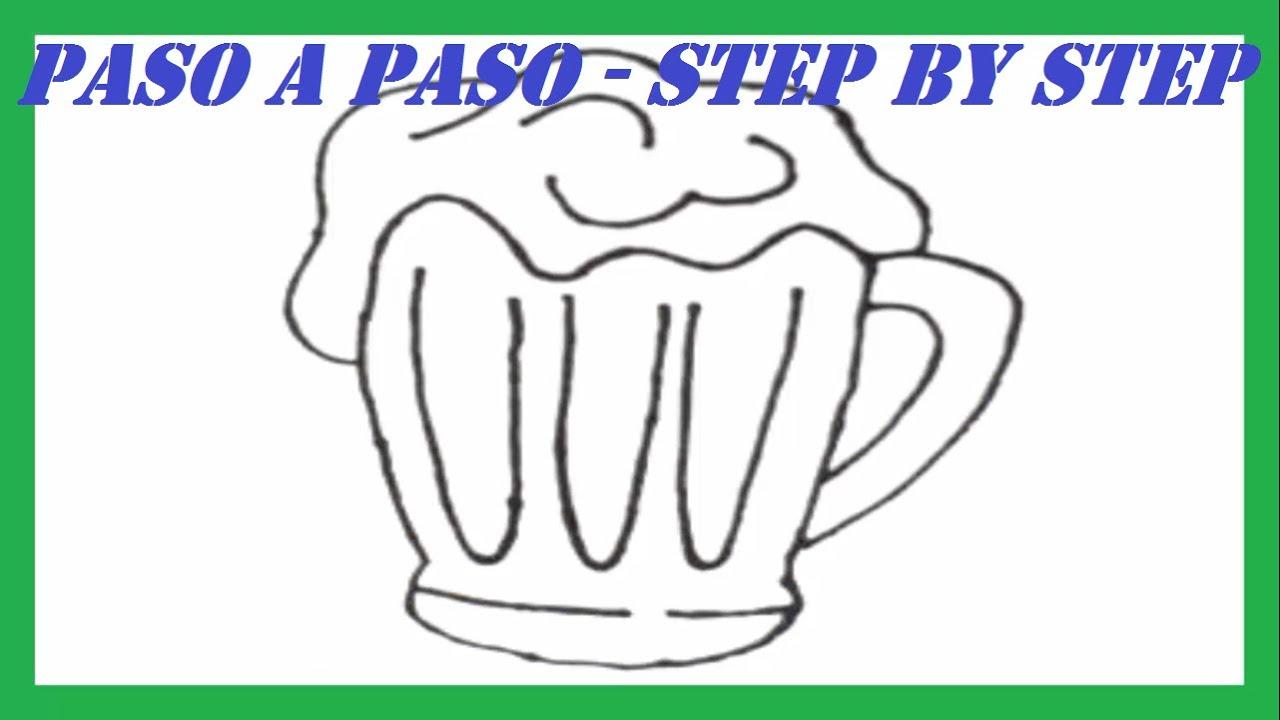 Botella De Cerveza Dibujo: Debujo De Una Botella De Cerveza Y Una Jarra Para Colorear