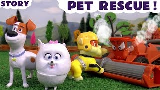 The Secret Life Of Pets Paw Patrol Rescue from Disney Cars Toys Frank Family Fun Kids Story Video
