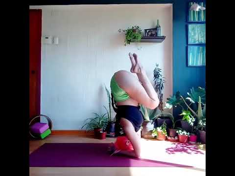 how to do headstand inversion variation morning practice