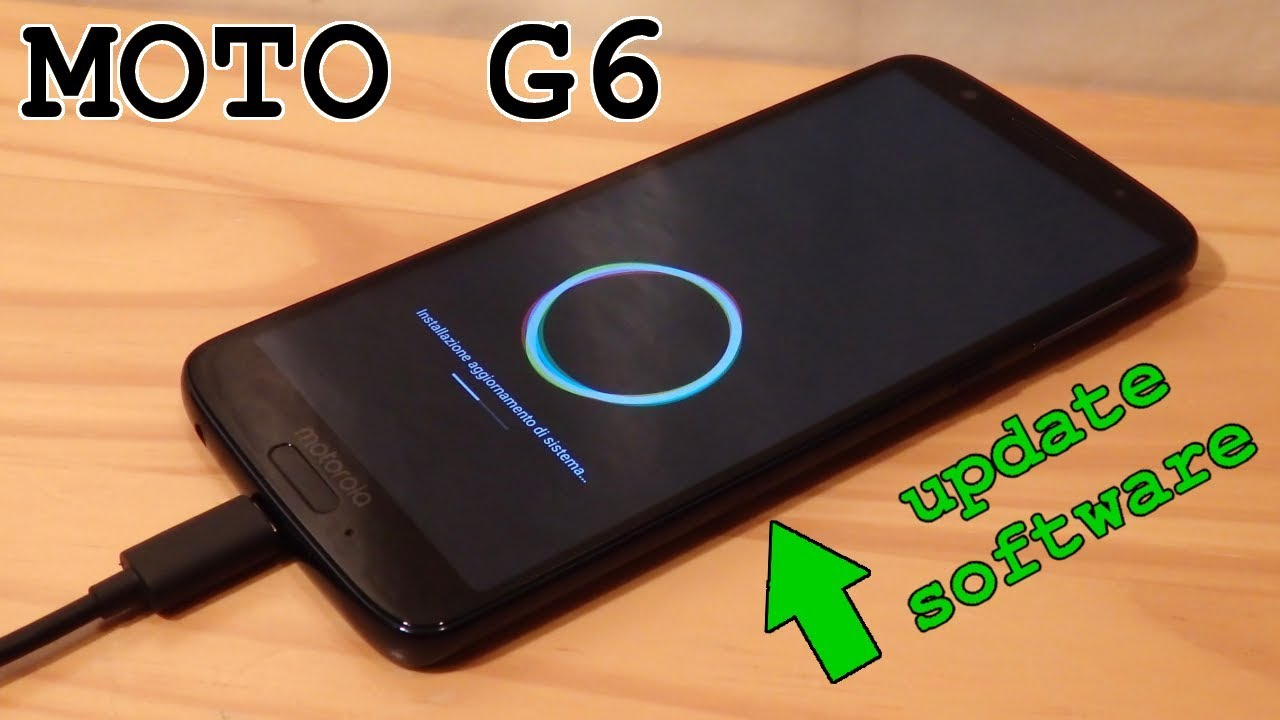 Lenovo Moto G6 • Software Update