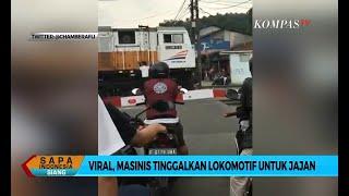 Viral! Masinis Turun Kereta Lanjut Jajan di Warung