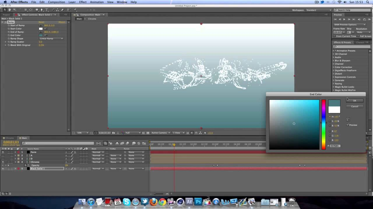 Particles transition to text tutorial after effects cs6 trapcode form