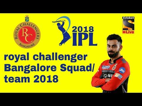 Royal Challenger Bangalore Squad/team || 2018 Latest