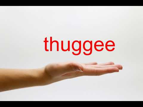 How to Pronounce thuggee - American English