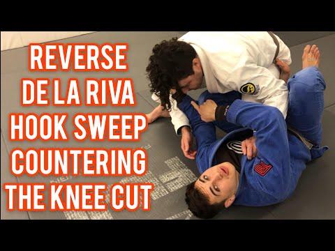 Reverse De La Riva Hook Sweep Countering The Knee Cut