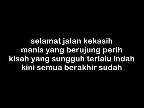 The Rain - Terlalu Indah (lyrics On Screen)