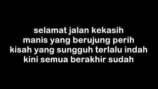 The Rain - Terlalu Indah (lyrics on screen)