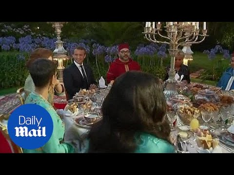 Macron meets for dinner with King Mohammed VI in Morocco - Daily Mail