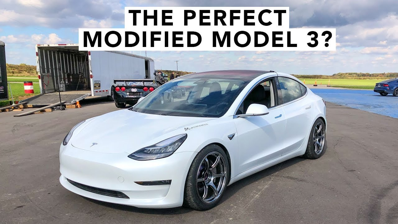 Modified Tesla Model 3 Track Review