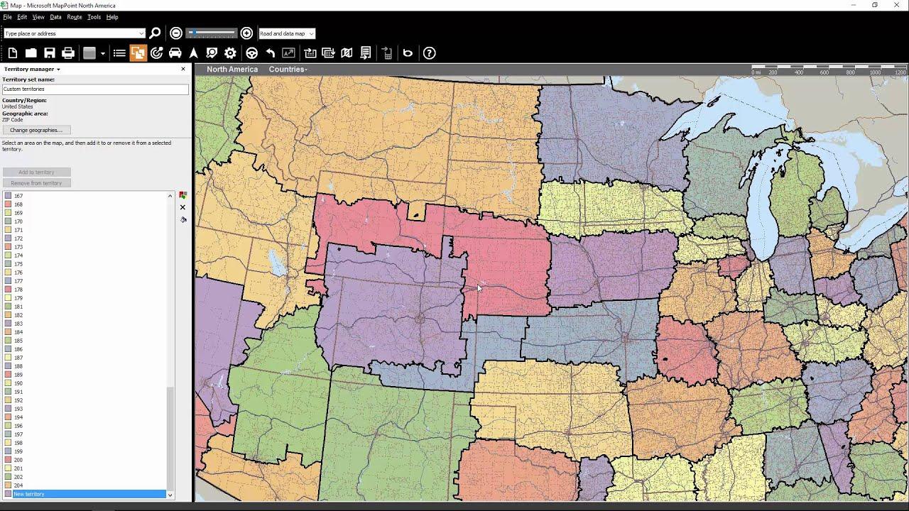 Modifying Territory Data Using MapPoint & AlignMix (Part 1)