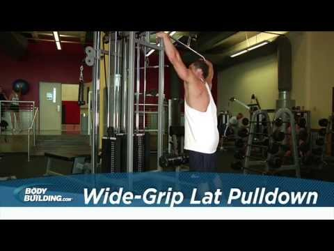 Wide Grip Lat Pulldown Back Exercise Bodybuilding.com