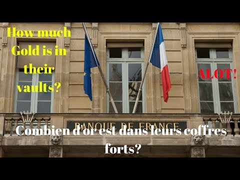 Bank of France - Banque de France - Gold Holdings - How much gold do they have?