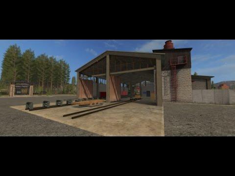 Farming Simulator 17 SawMill Mod GE import
